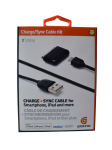 Griffin - Charge/Sync Cable Kit for Smartphones, iPhone, iPod, or iPad - Black