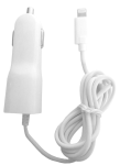 GetPower Vehicle Charging Cord with MFI Certified Lightning Tip for Apple iPhone 5  with Extra USB Port(White)