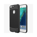 Verizon Scratch-Resistant Matte Silicone Case for Google Pixel XL - Black