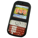 Silicone Skin Case For Palm Centro, Palm Treo 690 - Black