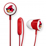 Gear4 Angry Birds Deluxe Tweeters Earbud for Apple iPad / iPhone / iPod (Red Bird)
