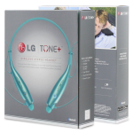 LG Tone+ Wireless Stereo Bluetooth Headset, LG HBS-730 (Teal)