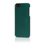 Original Alcantara Italian Design Case for iPhone 5/5s - Black Dots/Green Suede