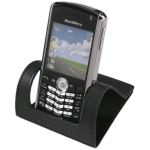 OEM BlackBerry Leather Desktop Stand for BlackBerry 8100, 8120, 8130 (Black) - HDW-11575-003