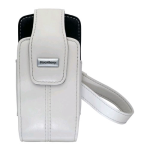 OEM BlackBerry Lambskin Leather Tote Holster for BlackBerry 8100, 8100c Pearl - White