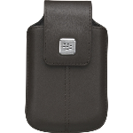 RIM BlackBerry Leather Holster withSwivel Belt Clip. Dark Brown.