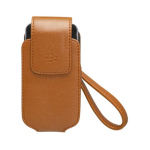 Blackberry - Synthetic Tote Case for BlackBerry 8220 Kickstart, 8220 Pearl Flip - Brown