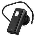 WXG Mini Bluetooth Headset with AC Wall Charger and Ear Hook - HFBLUEBK