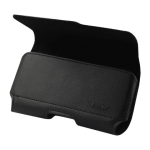 Reiko - Horizontal Z lid Leather Pouch XXXL - Black