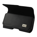 Reiko - Horizontal Z lid leather Pouch for SAMSUNG GALAXY MEGA6.3INCH - Black