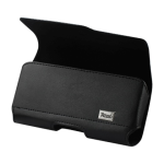 Reiko - Horizontal Z lid Leather Pouch for AMSUNG GALAXY NOTE 2 PLUS - Black