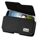 Reiko - Horizontal Z lid leather Pouch for Samsung Galaxy S4 Plus - Black