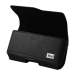 Reiko - Horizontal Z lid leather Pouch for TREO 650 - Black