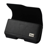 Reiko - Horizontal Z lid Leather Pouch XXL - Black