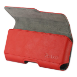 Reiko - Horizontal Z Lid Leather Pouch for SAMSUNG GALAXY S III I9300 - Red