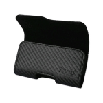 Reiko - Mat Pattern with Elastic Sides Horizontal Z Lid Pouch for Apple iPhone 4/4S - Black