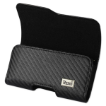 Reiko - Mat Pattern with Elastic Sides Horizontal Z lid Pouch - Black