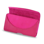 Reiko - Horizontal Pouch HP146 for HTC HD2 T8585 PLUS - Hot Pink