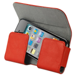 Reiko - Horizontal Pouch with Easy Take Out Design for Apple iPhone Plus - Orange