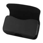 Reiko - Horizontal Pouch with Belt Clip for HTC HD2 T8585 - Black