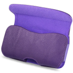Reiko - Horizontal Pouch for HTC HD2 T8585 PLUS - Purple