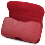 Reiko - Horizontal Pouch for HTC HD2 T8585 PLUS - Red