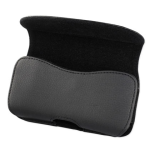 Reiko - Horizontal Pouch for HTC HD2 T8585 PLUS - Black