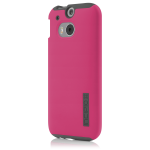 Incipio DualPro Shock-absorbing Case for HTC One M8 - Pink/Gray