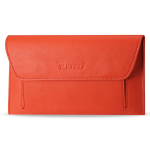 Reiko - Universal High Quality Leather Case for SAMSUNG NOTE II N7100 - Orange