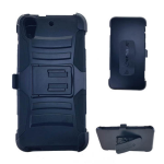 Holster Combo Protector Case for HTC Desire 626 (Black Skin with Black Snap)
