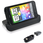 OEM HTC Desktop Cradle Charger for HTC DROID Incredible 2 (Black) - HTC6350DTC
