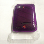 Verizon High Gloss TPU Soft Case for HTC Rezound  (Purple )