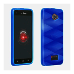 Verizon Wireless High Gloss Silicone Cover for HTC Droid DNA CDM-6435 - Blue