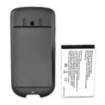 HTC Hero Extended Battery and Battery Door for HTC Hero, 2200 mAh - Dark Gray
