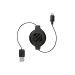 Scosche strikeLINE Retractable Lightning Cable for Apple (Black)