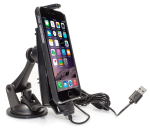 iBolt iPro2 Car Dock for iPhone 5, 5c, 5s, 6, 6+ with integrated Lightning Cable