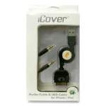 DigiCom iCover Audio & USB Cable, iPhone/iPod
