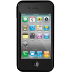 ILUV Flex Silicone Trim Case with DualProtective Films. Black.
