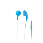 iLuv - Bubble Gum II Earphone, Flexible, Jelly-Type Stereo Earphones - Blue