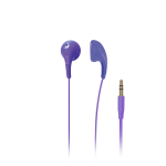 iLuv - Bubble Gum II Earphone, Flexible, Jelly-Type Stereo Earphones - Purple