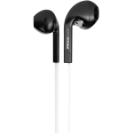 iFrogz In-Ear Earbud Headphones with Mic and Noise Isolation, Black/White