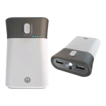 iFrogz Golite Traveler, 9000mAh Portable Charger and Flashlight for Smartphones and Tablets (White) - IFGLTV-WH0