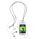 iHangy Music Necklace with Handsfree for Apple iPhone 4/4S (White)