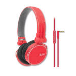 iLuv ReF High-Fidelity Stereo Headphones - Red
