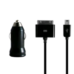 Incipio Technologies Mini USB Vehicle Charger with Apple Dock Connector for Apple iPhone, iPod 30-Pin Cable - IP-641