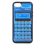 Tylt Pillo Protective Case for iPhone 5 - Black/Blue - Calculator