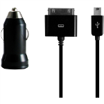 Incipio 2 Port Mini Car Charger for Apple iPhone 4G/4S - Black