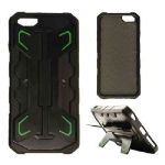 2-in-1 Hybrid Protector Case for Apple iPhone 6 Plus (Black/Green with Stand)