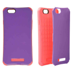 New iCardie Snap-On Protector Case for Apple iPhone 6 Plus (Pearl Dark Purple Snap and Pink Skin)