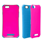 New iCardie Snap-On Protector Case for Apple iPhone 6 Plus (Pearl Dark Hot Pink Snap and Dark Blueish)